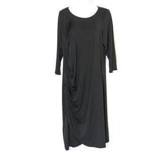 24/7 Comfort Apparel Ruched Tulip Hem Dress 2402X